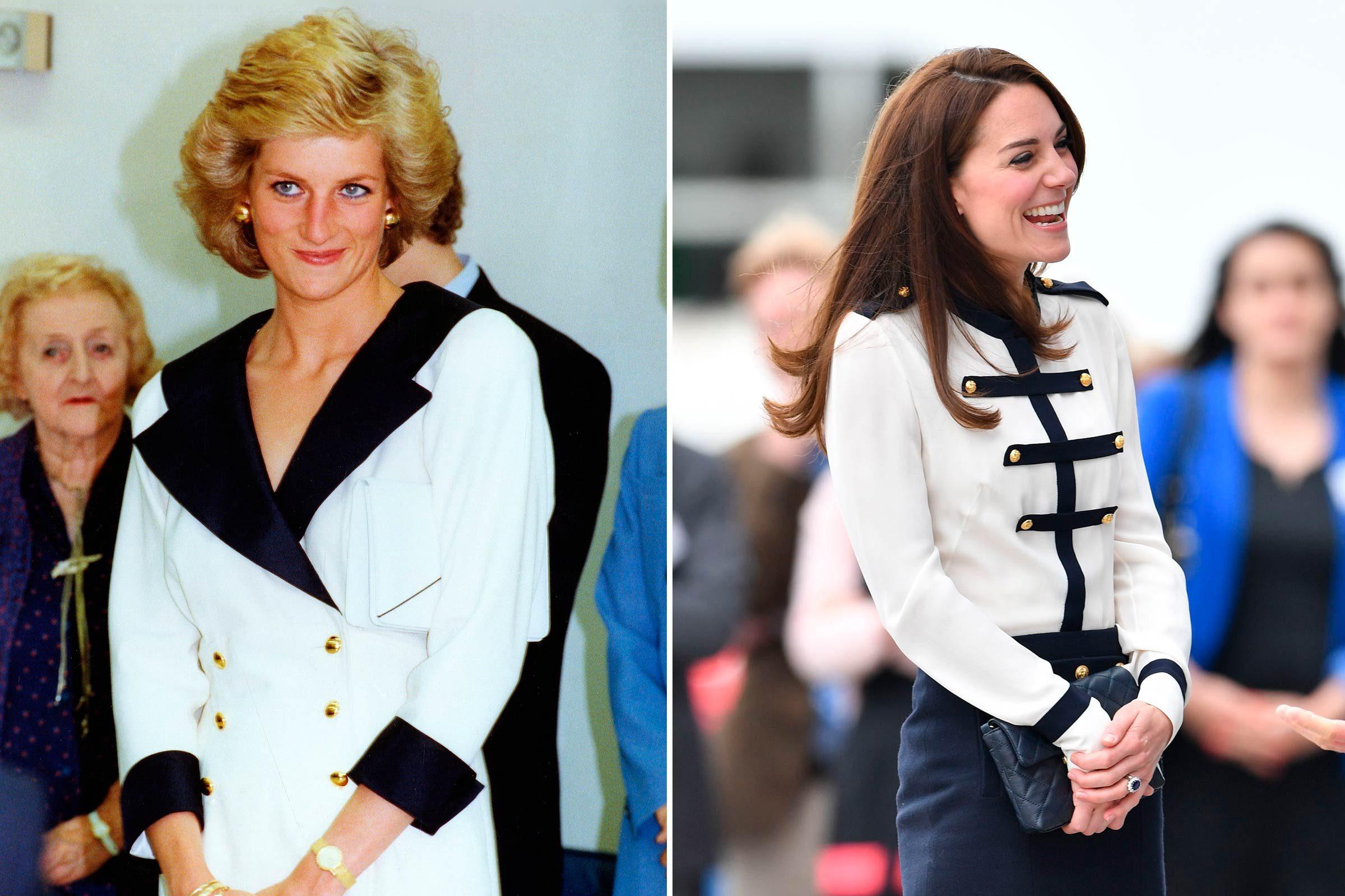 Kate et Diana en mode marine