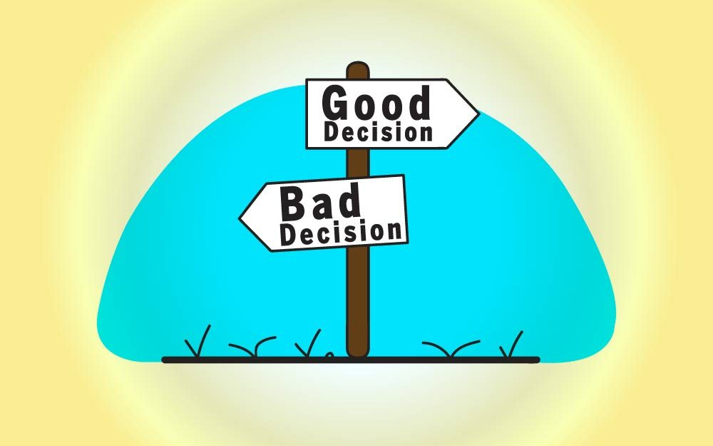 is making a bad decision better Decision making (adjective, also decision-making) is recorded from 1953 show more example sentences for decision you bet mr arledge would 'a' got my decision .