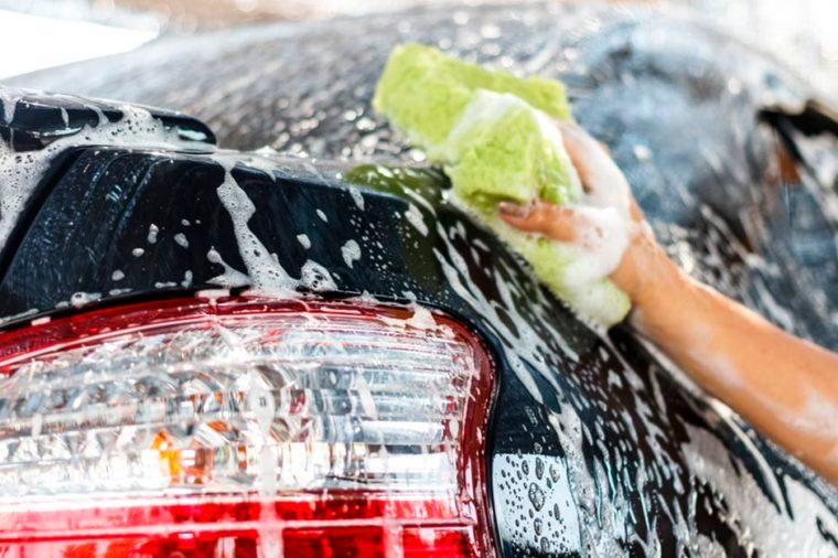 15-wash-car-Simple Ways to Torch 200 Calories in No Time_