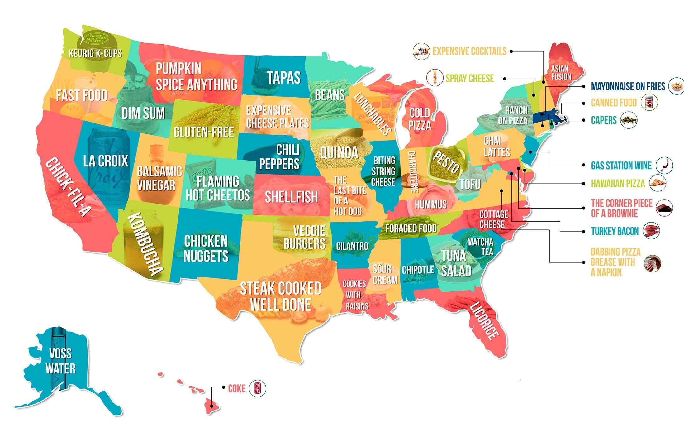 this map shows the food your state hates the most reader