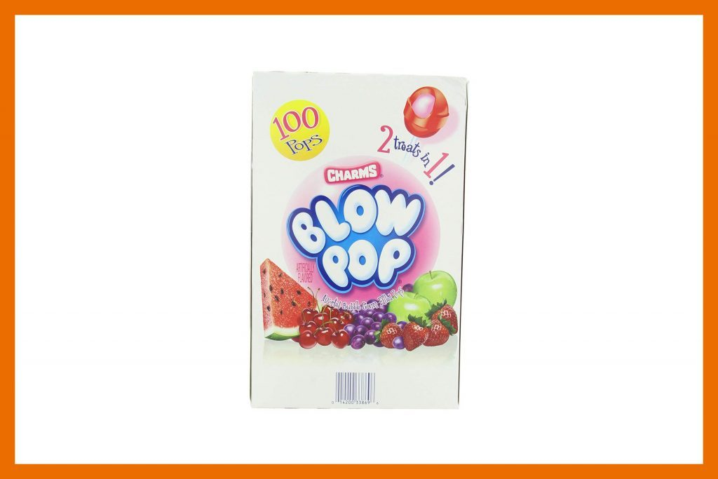 via amazoncomone charms blow pop contains 60 calories no fat and 13 grams of sugar lollipops are a great way to keep your mouth busy and not eating - Top Ten Halloween Candies