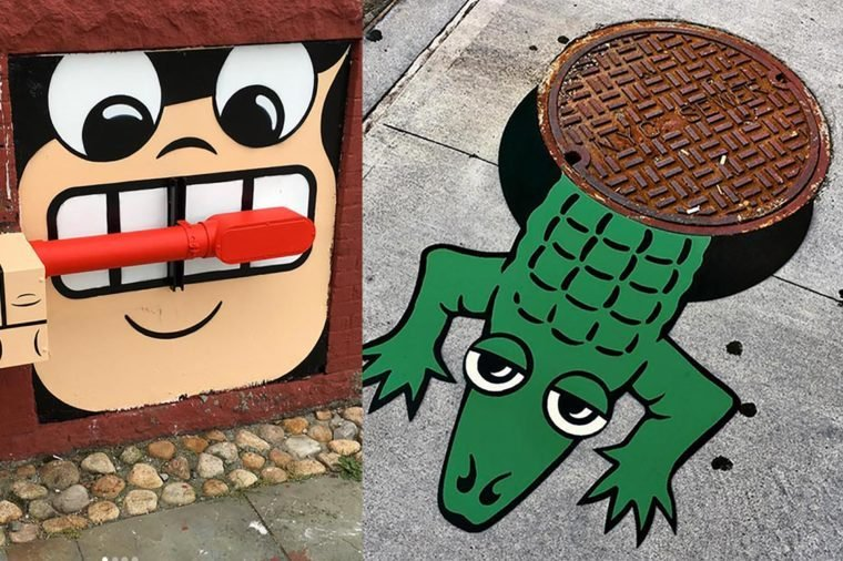 Street Art Character Design : We dare you not to smile at this artist s new york city